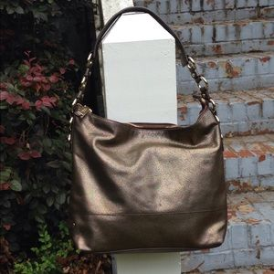 Cole Haan Bags - Cole Haan Speckled Bronze Leather hand bag purse